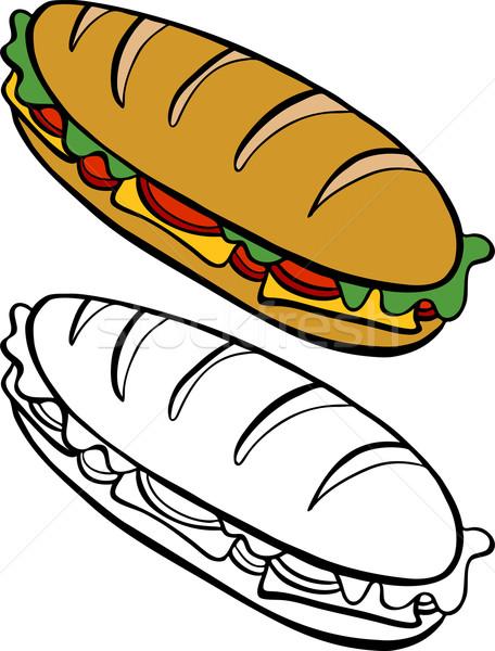 456x600 Submarine Sandwich Vector Illustration John Takai (Cteconsulting