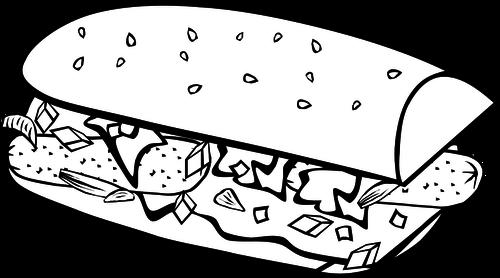 500x278 Submarine Sandwich Vector Drawing Public Domain Vectors