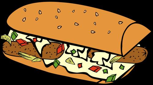 500x278 Vector Image Of Submarine Sandwich Public Domain Vectors