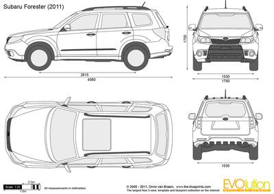 400x283 Subaru Forester Vector Drawing
