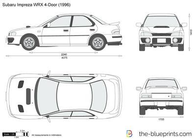 400x283 Subaru Impreza Wrx 4 Door Vector Drawing