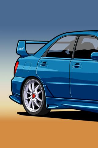 320x480 Subaru Impreza Wrx Sti Vector Iphone Wallpaper Idesign Iphone