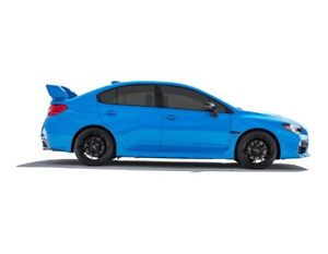 300x233 Subaru Wrx Sti Blue Side Vector Vectorized Print Poster High