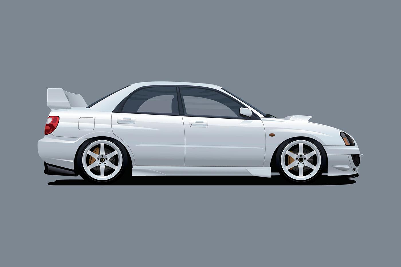 1400x932 Subaru Wrx On Behance