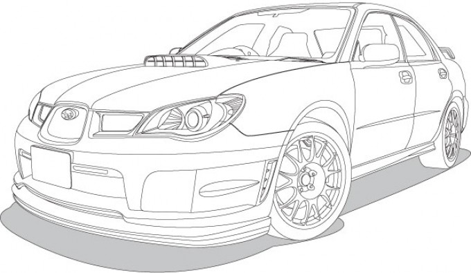680x395 Car Subaru Impreza Vectorish