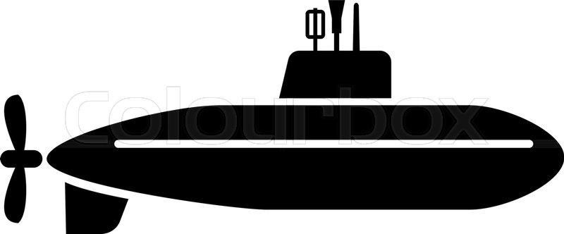 800x332 Large Submarine Icon. Simple Illustration Of Large Submarine