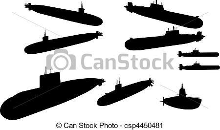 450x266 Submarina. Submarines In Vector.