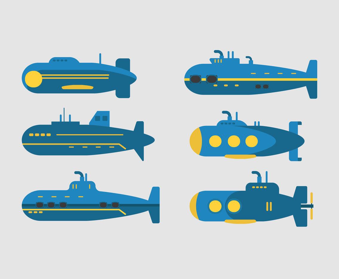 1136x936 Blue Submarines Vector Vector Art Amp Graphics