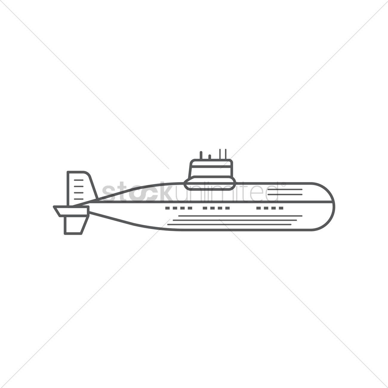1300x1300 Submarine Vector Image