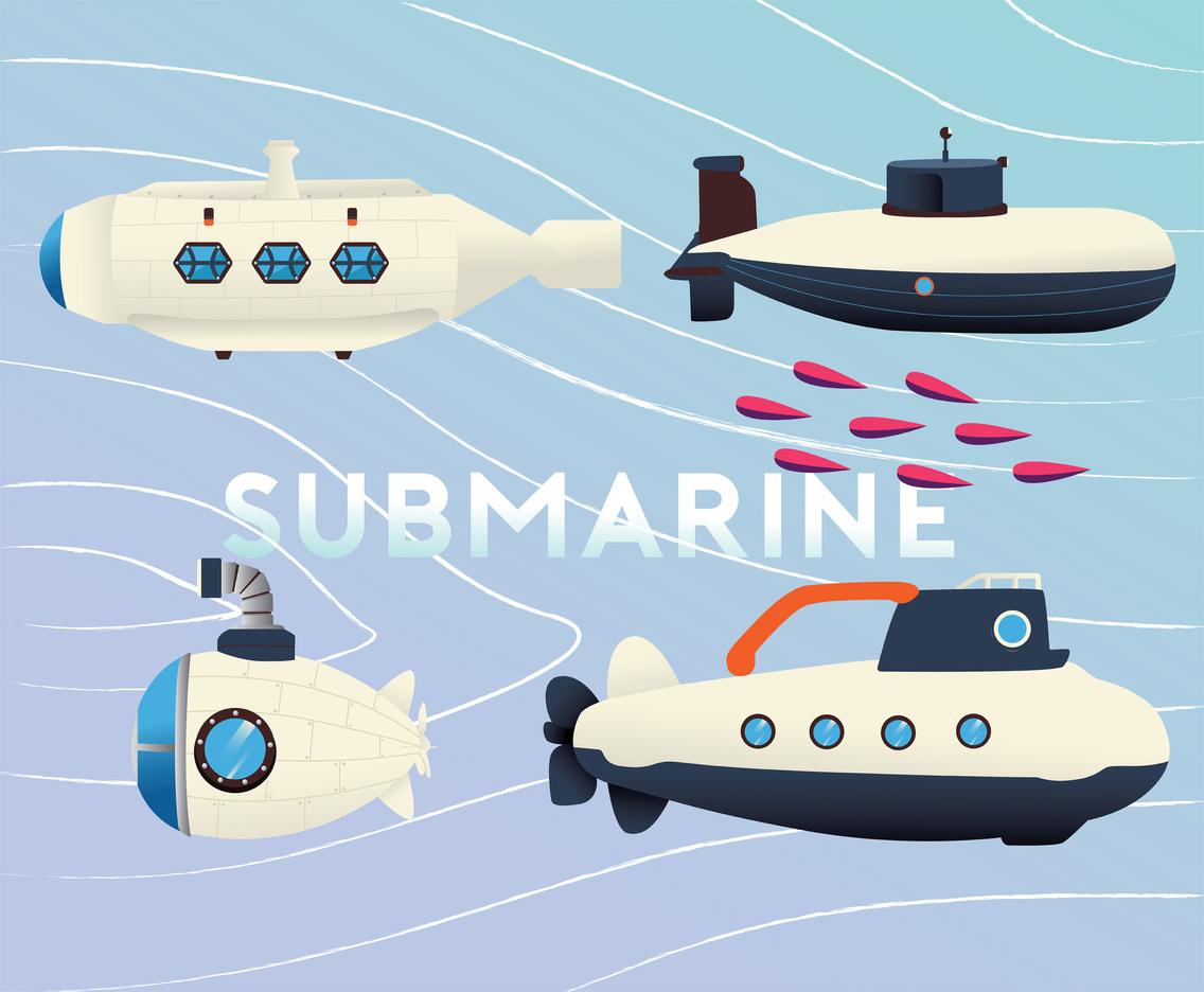 1136x936 Submarine Vector Pack Vector Art Amp Graphics