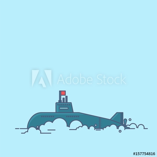 500x500 Submarine Vector Vector Illustration