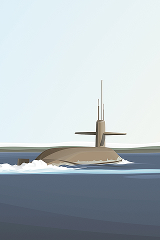 320x480 Submarine Vector Iphone Wallpaper Idesign Iphone