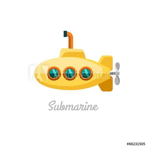 500x500 Submarine. Vector Illustration.