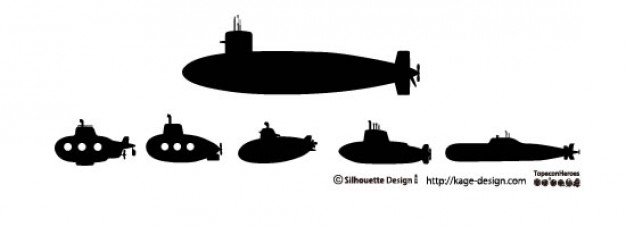 626x227 Submarines Vector Free Download