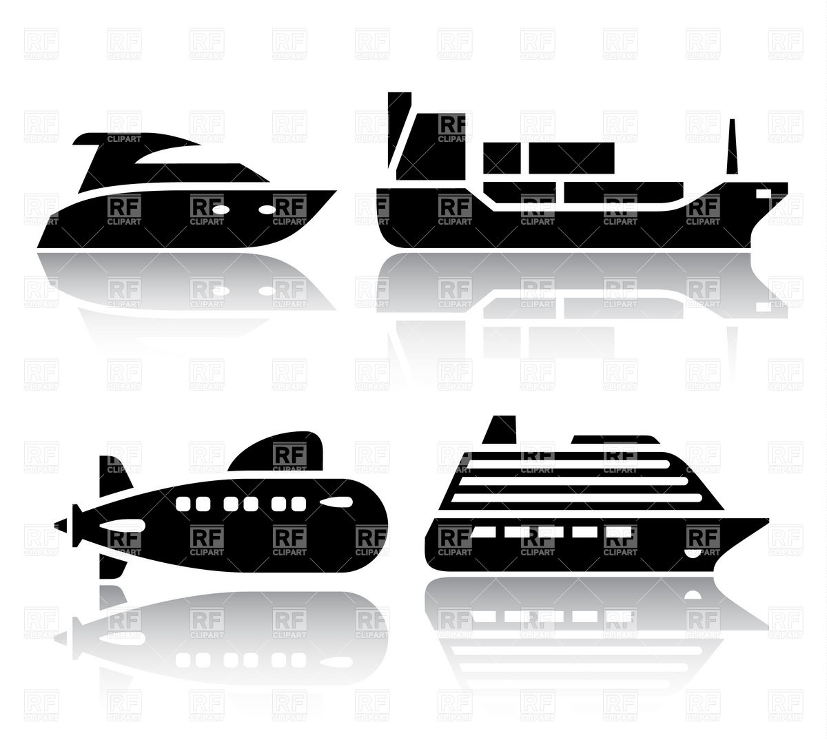 1200x1074 Water Transport Icons