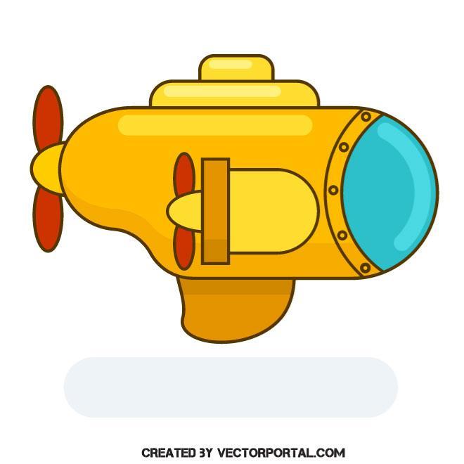 660x660 Yellow Submarine Vector Clip Art