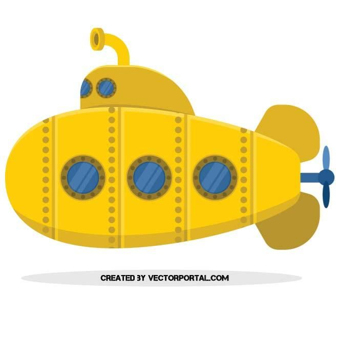 660x660 Yellow Submarine Vector Image Patern Motifs Clipart In 2018