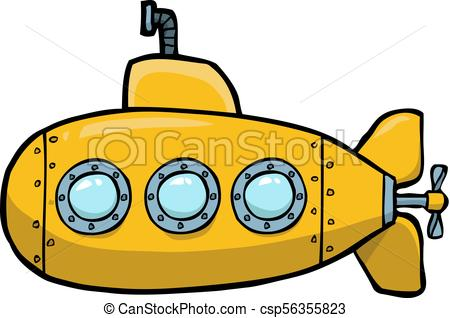 450x318 Doodle Yellow Submarine On A White Background Vector Illustration.