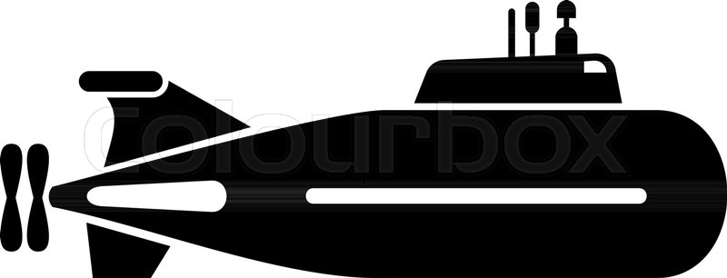 800x306 Fast Submarine Icon. Simple Illustration Of Fast Submarine Vector