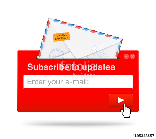 500x443 Subscribe Menu For Web Or Mobile Devices. Vector Illustration On