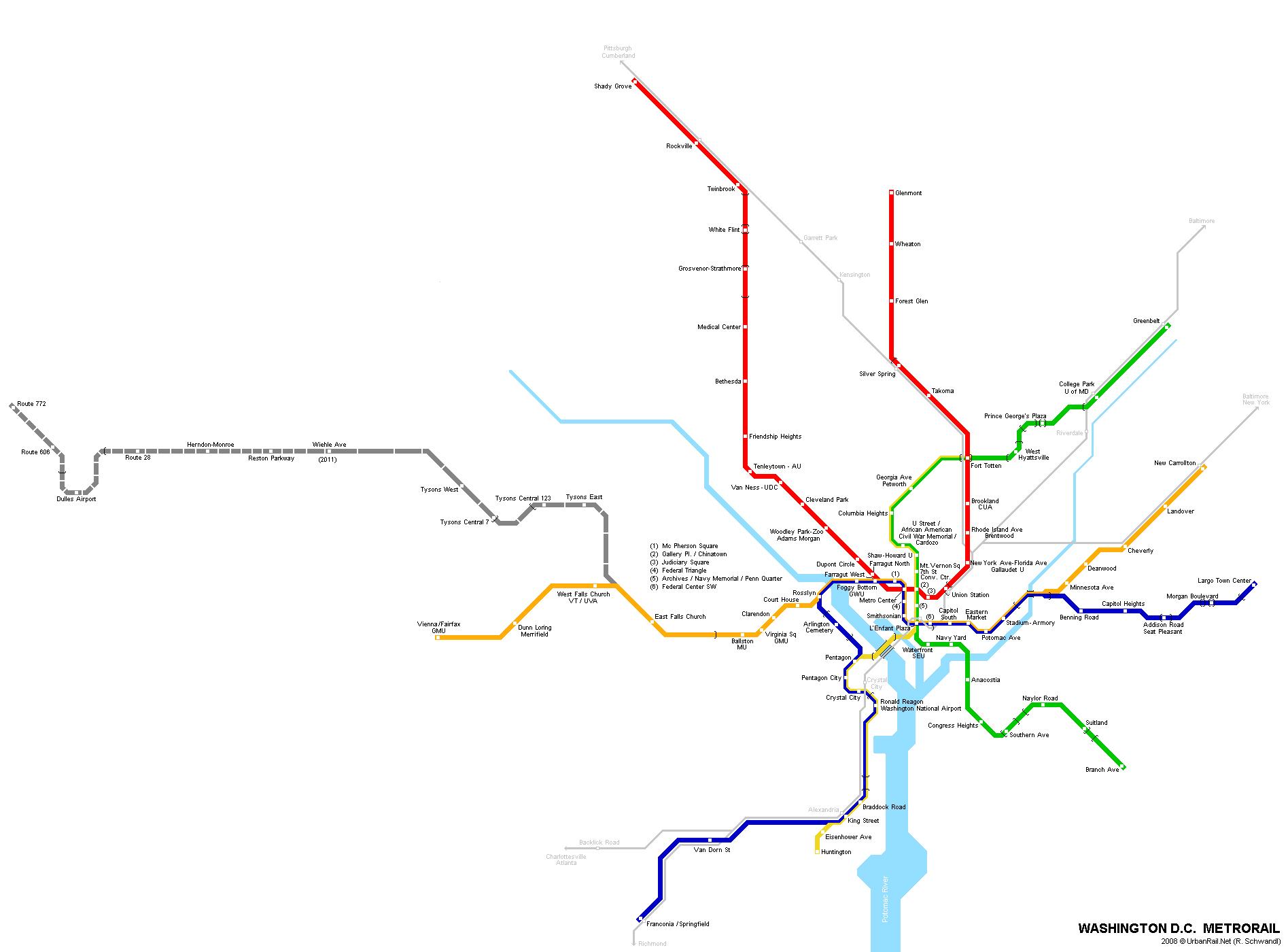 1895x1400 Large Detailed Metro Map Of Washington D.c.. Washington D.c. Large