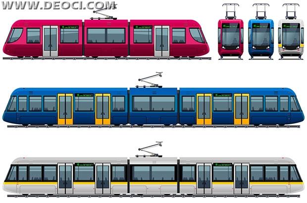 620x410 3 Subway Tram Vector Eps Downloads