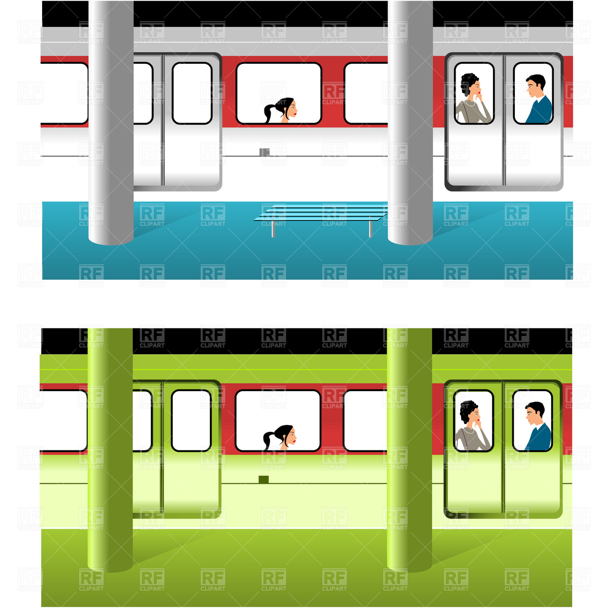 1200x1200 Subway Station Vector Image Vector Artwork Of Transportation