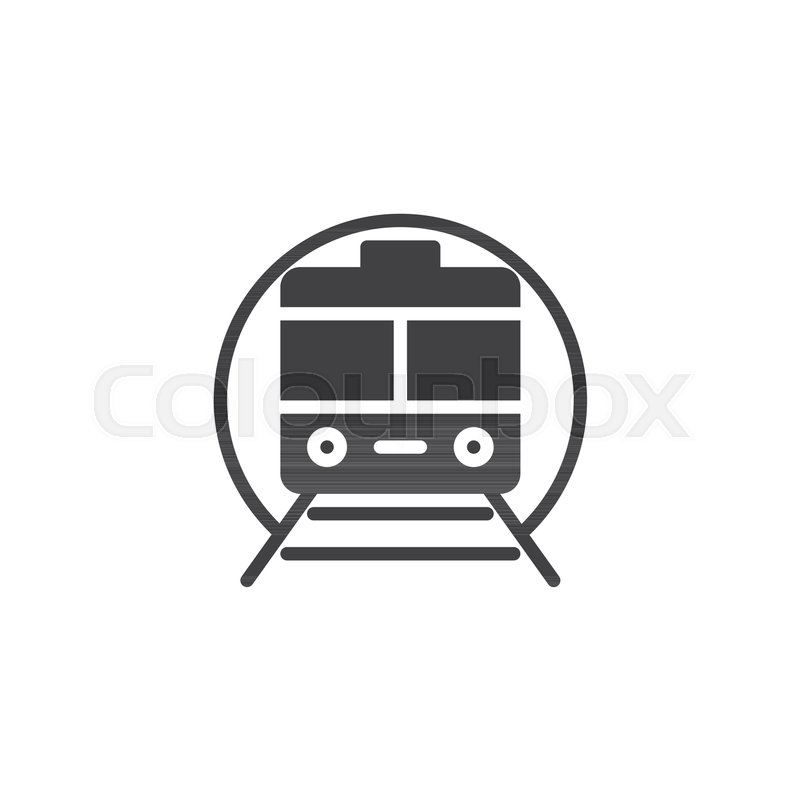 800x800 Train Subway Vector Icon. Filled Flat Sign For Mobile Concept And