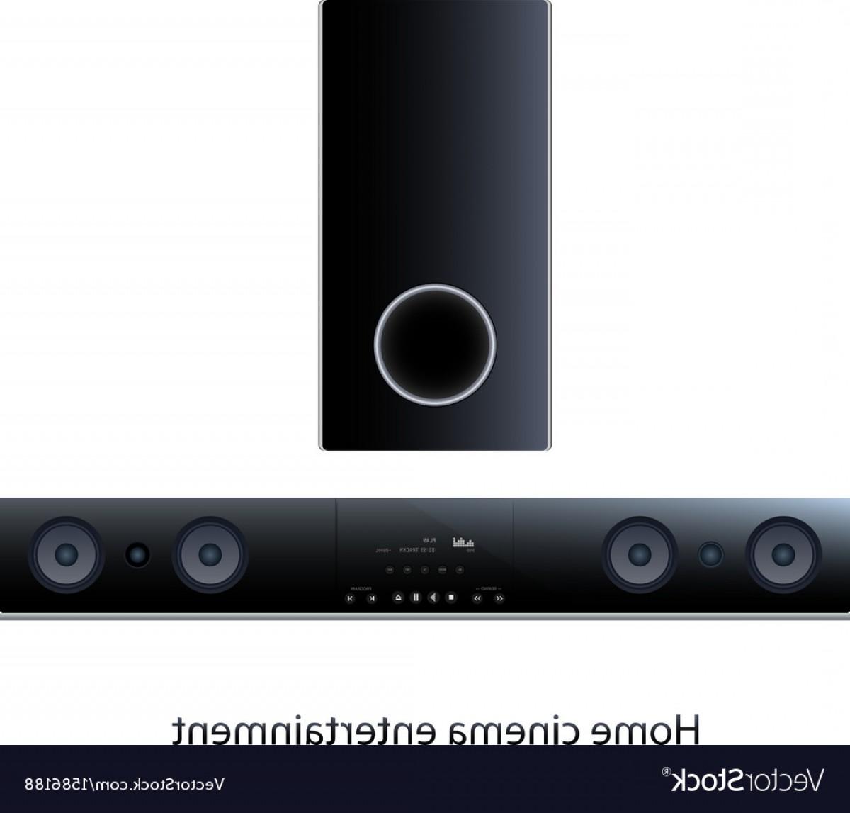 1200x1147 Soundbar Panel With Subwoofer Vector Orangiausa