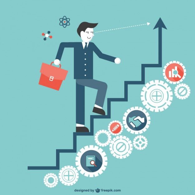 626x626 Staircase To Success Vector Free Download