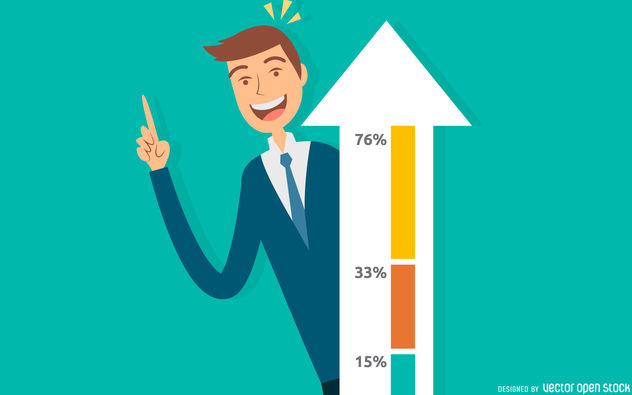 632x395 Business Growth Success Illustration Free Vector Download 380133