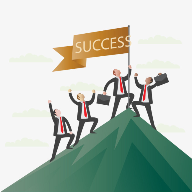 650x651 Business Success Vector Banner, Business Vector, Banner Vector, Hd