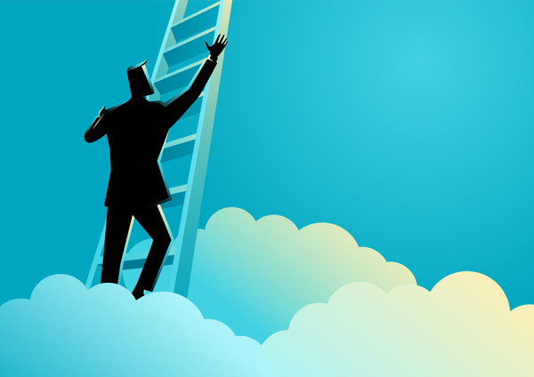 600x424 Businessman Silhouette Ladder To Success Vector Free Download