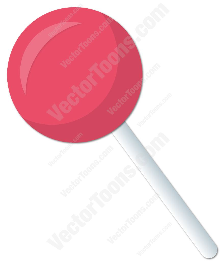 864x1024 Pink Lollipop Clipart By Vector Toons