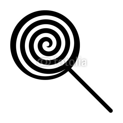 400x400 Swirl Lollipop Sucker Or Lolly Candy Flat Vector Icon For Apps And