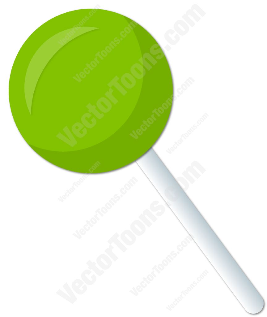 864x1024 Green Lollipop Clipart By Vector Toons
