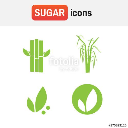 500x500 Sugar Cane Sugarcane. Sugar Cane Vector Icons Stock Image And