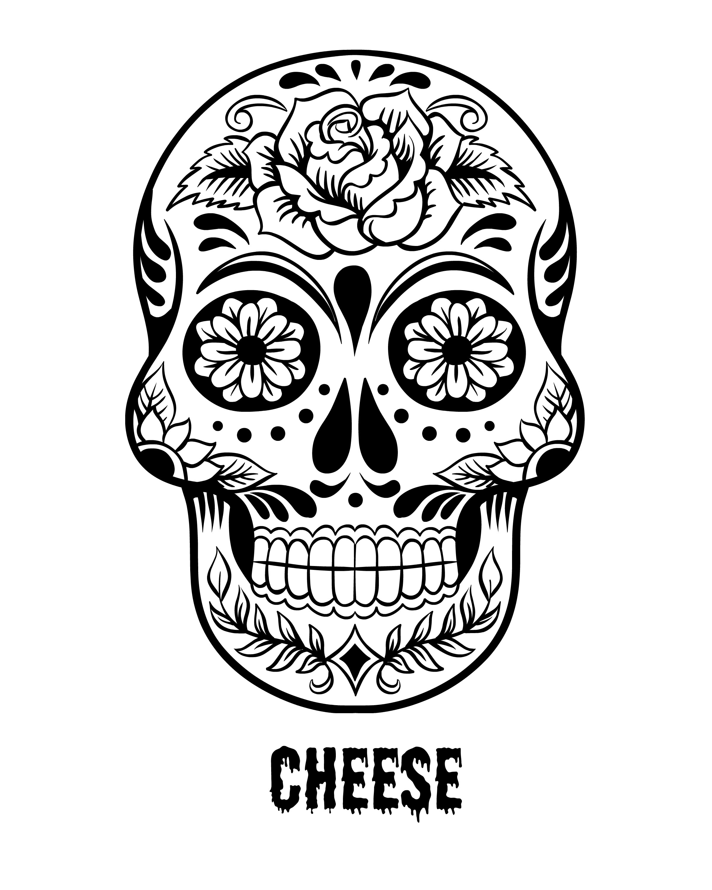 2400x3000 Realistic Day Of The Dead Sugar Skull Vector 1803264 Images 2