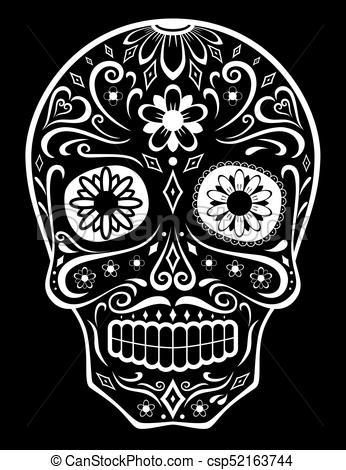 346x470 Sugar Skull. Mexican Sugar Skull