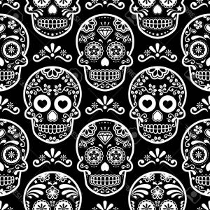300x300 Royalty Free Stock Images Day Dead Black Vector Sugar Skull Image