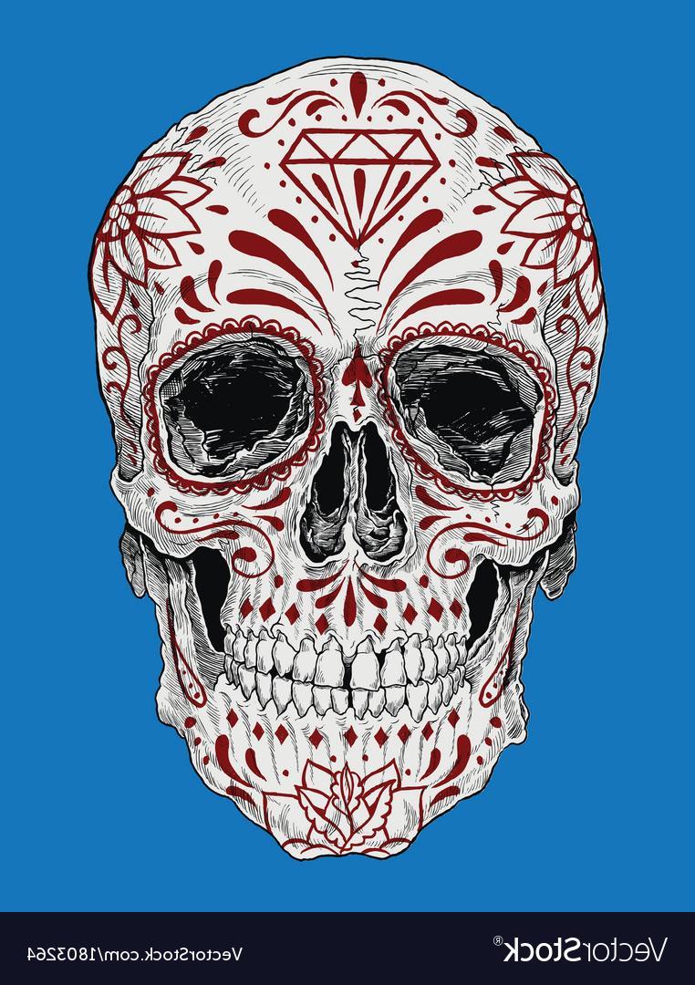 762x1080 Unique Realistic Day Of The Dead Sugar Skull Vector File Free
