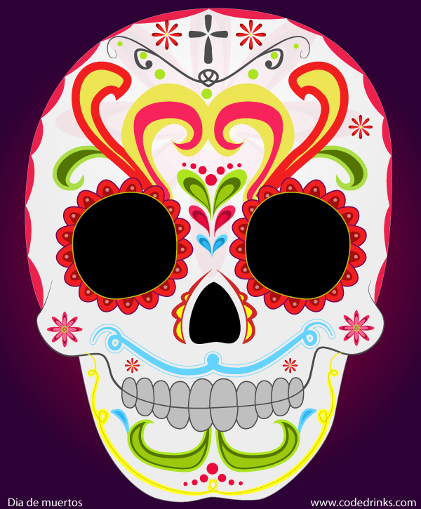 600x725 Day Of The Dead Sugar Skull Vector Image 123freevectors