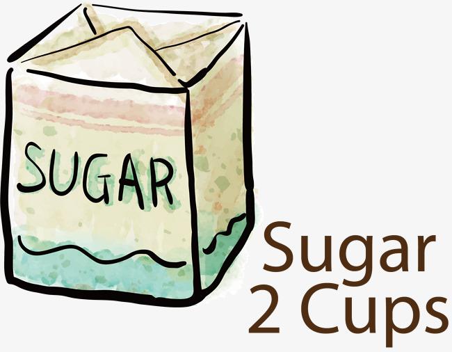 650x506 Vector Hand Painted Delicious Sugar, Sugar, Vector Diagram, Hand