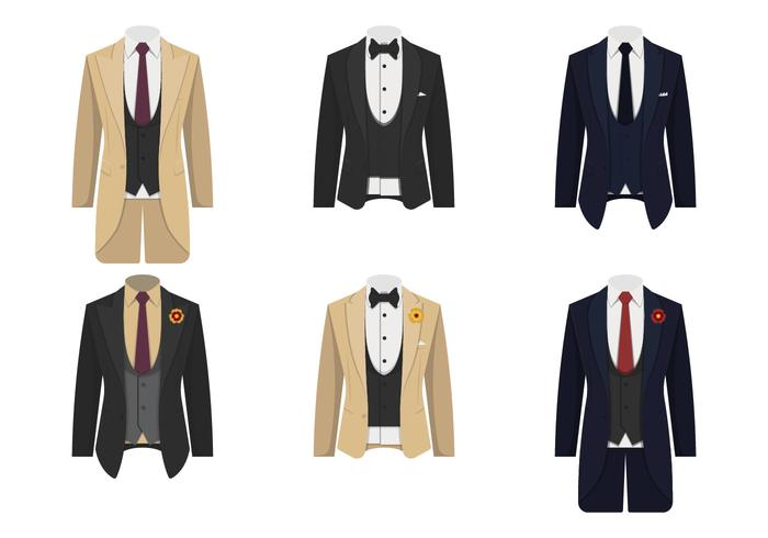 700x490 Collection Of Tuxedo Suit Vector Illustration