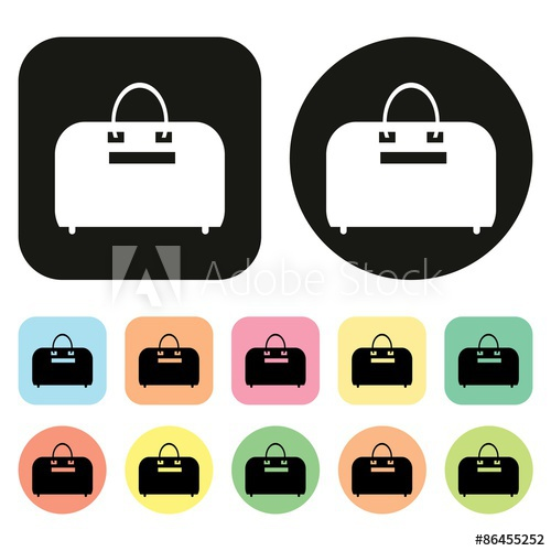 500x500 Suitcase Icon. Bag Icon. Travel Bag Icon. Vector