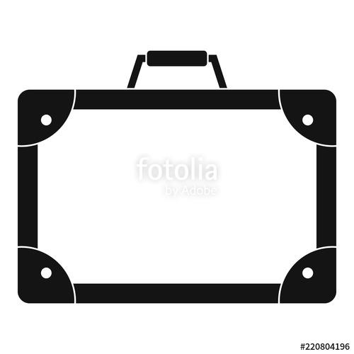 500x500 Travel Suitcase Icon. Simple Illustration Of Travel Suitcase
