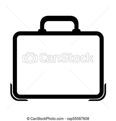 450x470 Business Suitcase Icon. Isolated Business Suitcase Icon. Vector