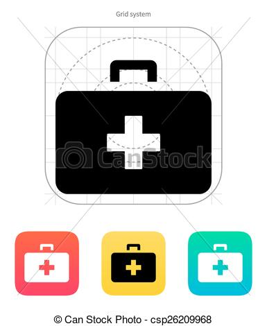 385x470 Doctor Suitcase Icon. Vector Illustration. Doctor Suitcase Icon On