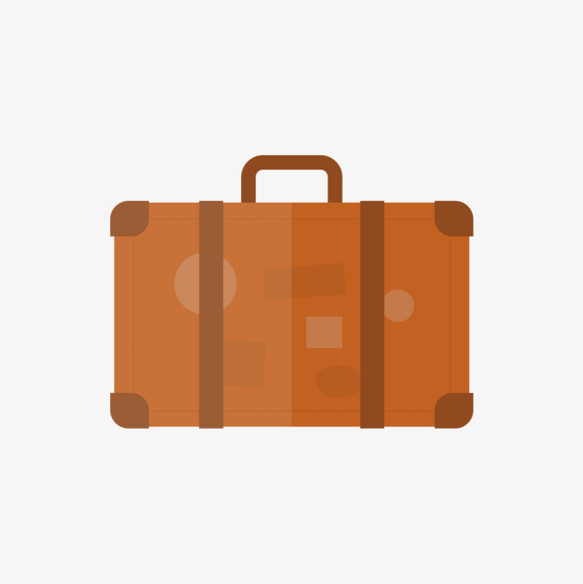 650x651 Orange Suitcase, Orange Vector, Orange, Suitcase Png And Vector