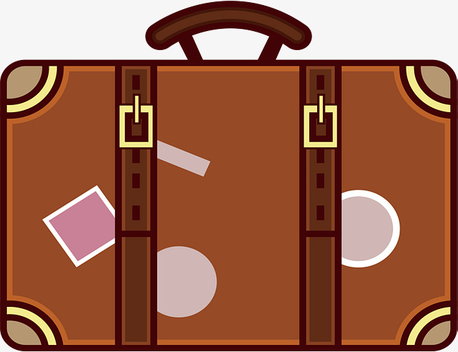 650x499 Brown Suitcase, Vector Png, Travel, Travel Season Png And Vector